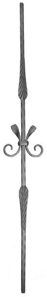 #(QC-503) Forged Provincial baluster w/ Tie / Spindle