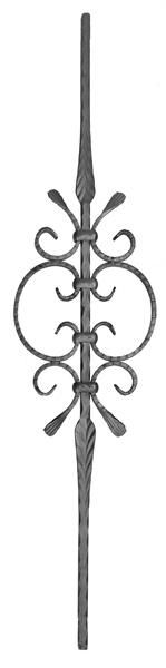 #(QC-505) Forged Provencial Scroll Picket / baluster - center curls
