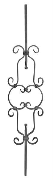 (QC-803) Forged Scroll Picket baluster-3 center curl sets