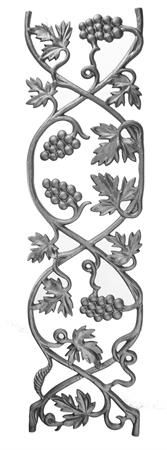 #(13) Grape Vineyard Cast Iron Railing Panel