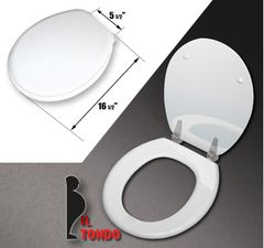 """Toilet Seat, """"il tondo"""" (Round 16.5)"""