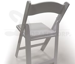 USED White Structure folding & stacking chair