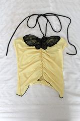Yellow and Black Sexy Butterfly Top