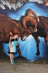 Blue Black and White Beautiful Dress