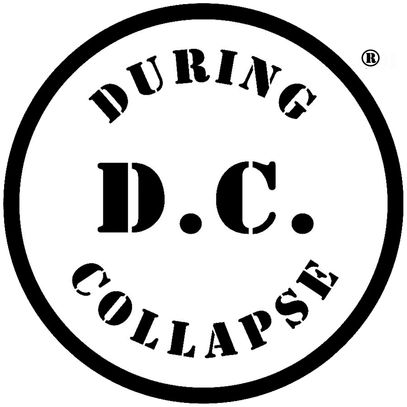D.C: DURING COLLAPSE registered trademark circle logo and title