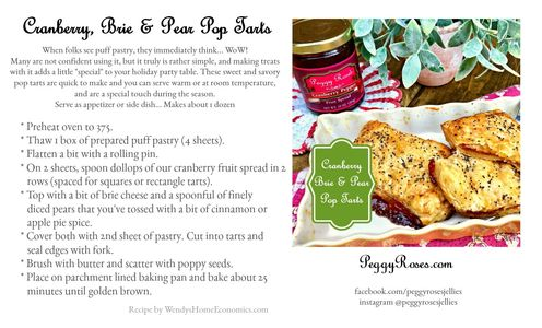 Cranberry, Brie & Pear Pop Tarts made with crispy buttery phyllo pastry will WoW your friends with t