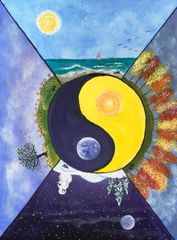 "Ode to the Solstice - 9"" X 12"" Acrylic on canvas panel"