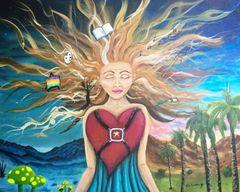 """Muse - 16"""" X 20"""" Original artwork Acrylic painting"""