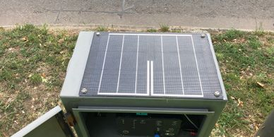 Solar Panel on a traffic monitoring cabinet