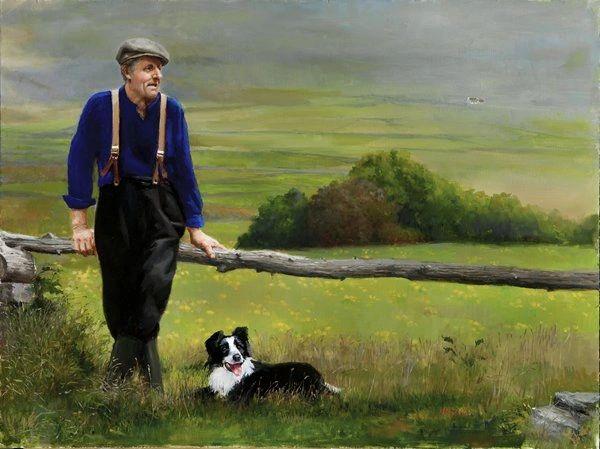 Farmer and Dog