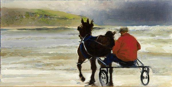 Riding on the Beach