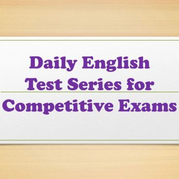 Daily English Test Series for Competitive Exams