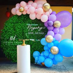 Pink, Purple and Blue Balloon Garland