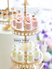 2 tier crystal cupcake stand