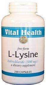 L-Lysine 500mg 250 capsules