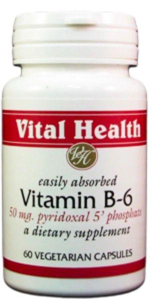 Vitamin B6 50mg (Pyridoxal 5' Phosphate) 60 caps