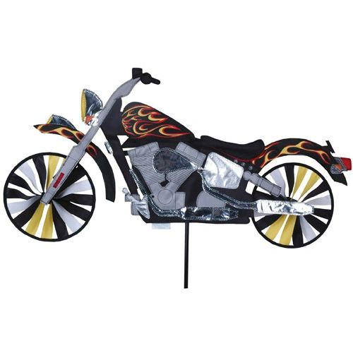 Flame Motorcycle Spinner by Premier