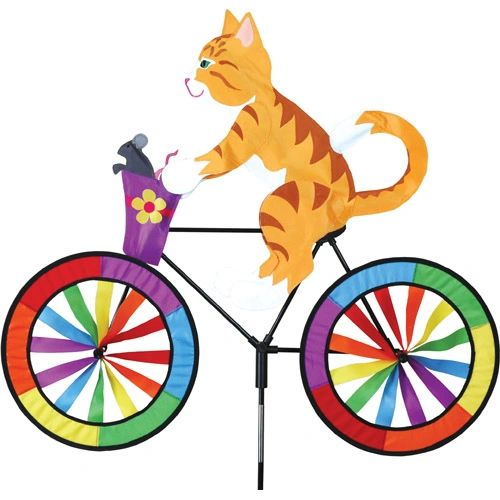 Kitty on Bicycle Spinner by Premier