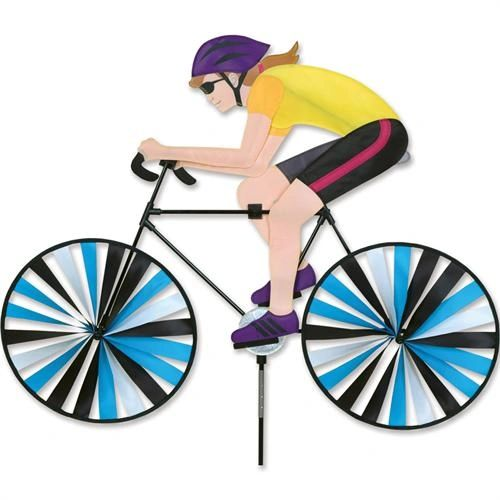 Lady on Bicycle Spinner by Premier