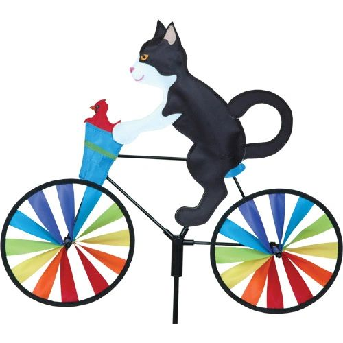 Tuxedo Kitty on Bicycle Small Spinner by Premier