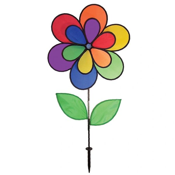 12 Petal Flower with Leaves Double Wheel Spinner