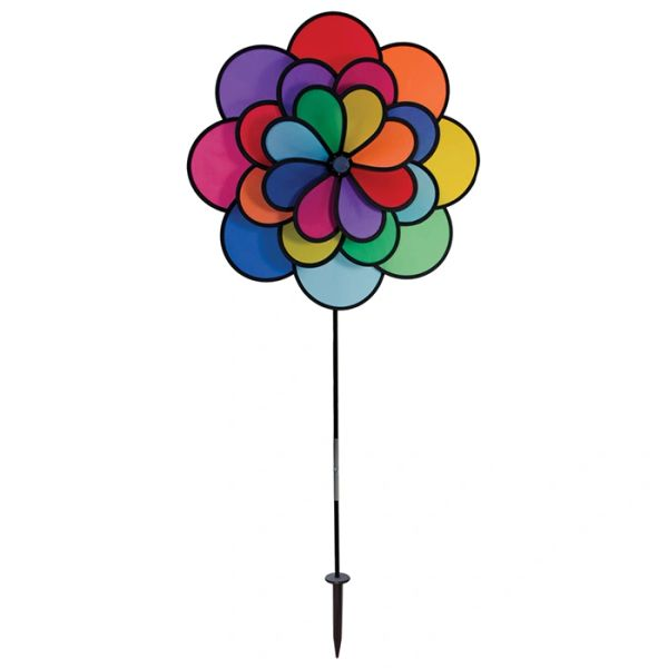 24 Petal Flower Triple Wheel Spinner