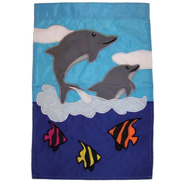 Dolphin Friends Applique Banner
