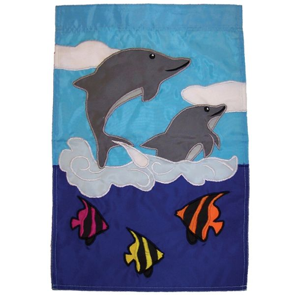 Dolphin Friends Applique Garden Banner
