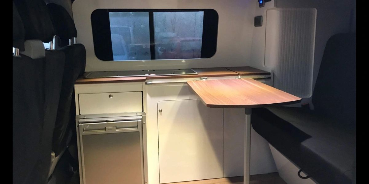 infinity customs kids beds, transporter t5 ,camper van kitchen