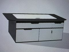 transporter kombi bed fixed drawer set with lift up access