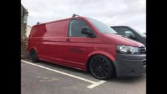 VW T5 2008 ,LWB IN RED FACELIFT