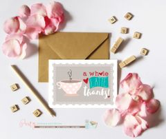 Thank You Note Card, Thank You Stationery, Thank You Card, A7 Note Cards, Coffee, Latte, Thank You Card, Thank You Note Card, Notecards