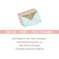 Color, Font or Text Change