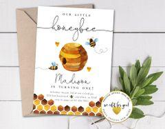 Bee Baby Shower Invitation, Honeybee Baby Shower Invite, Bumblebee