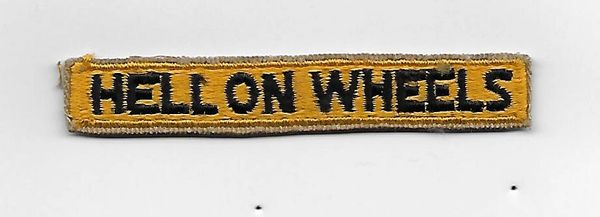 """World War II Third Armored Division """"Hell On Wheels"""" tab"""