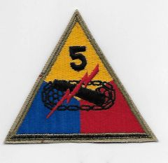 World War II Fifth Armored Division patch