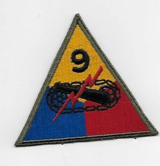 World War II Ninth Armored Division patch
