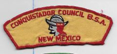 Boy Scout patch Conquistador Council New Mexico