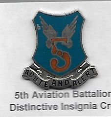 World War II Army Air Corps 5th Aviation Battalion Distinctive Insignia