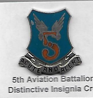 World War II Army Air Corps 5th Aviation Battalion Distinctive Insignia