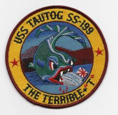 "USS Tautog ""The Terrible T"" SS-199 patch"