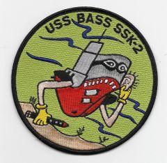 USS Bass SSK-2 patch