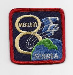Mercury 8 patch (Wally Schirra)