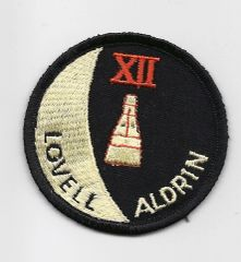 Gemini 12 patch. (Jim Lovell & Buzz Aldrin)