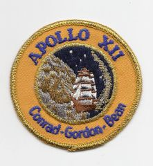 Apollo 12 patch. (Conrad, Gordon & Bean). Yellow band on patch.
