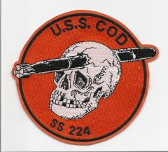 US Navy Submarine USS Cod SS-224 patch