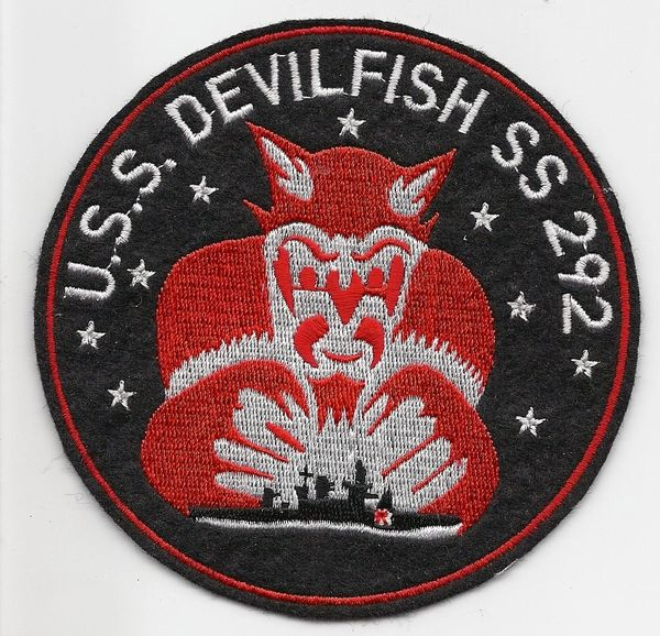 US Navy Submarine USS Devil Fish SS-292 patch