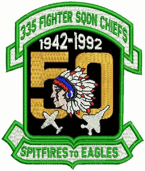 335th Fighter Squadron 50th Anniversary patch.