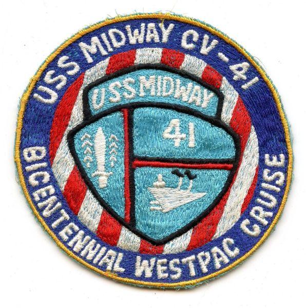 USS Midway CV-41 Bicentennial Westpac Cruise patch