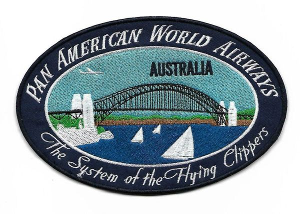 "Pan American Airways ""Australia"" Luggage Label patch"